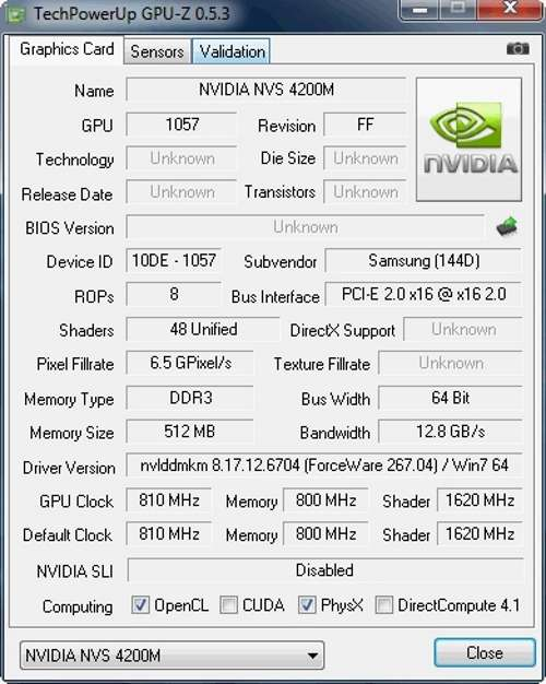 Графический ускоритель NVidia NVS 4200M: характеристики и назначение