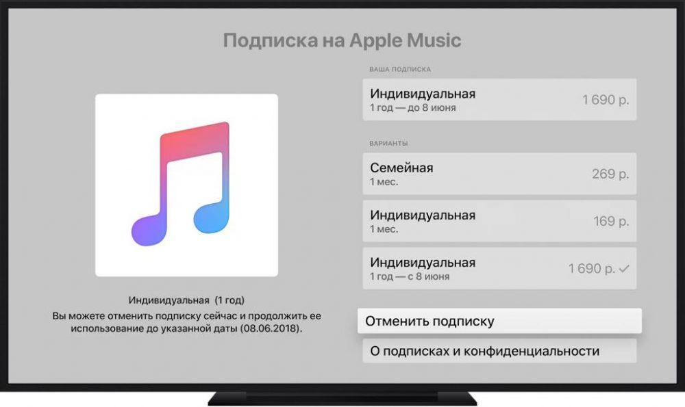 Apple Music: отмена подписки. Как отключить подписку на Apple Music?