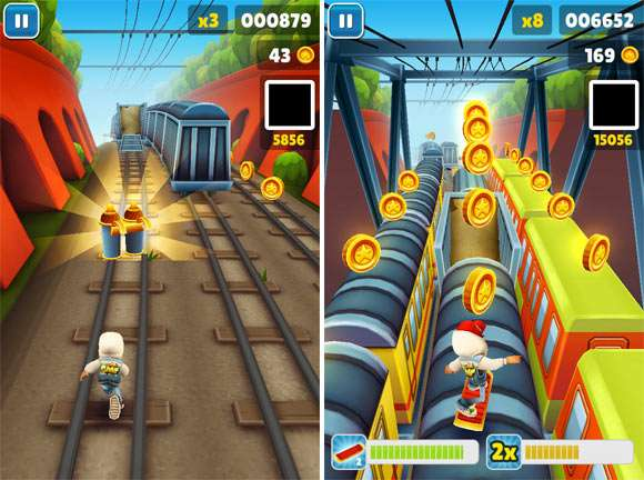 играем в Subway Surfers