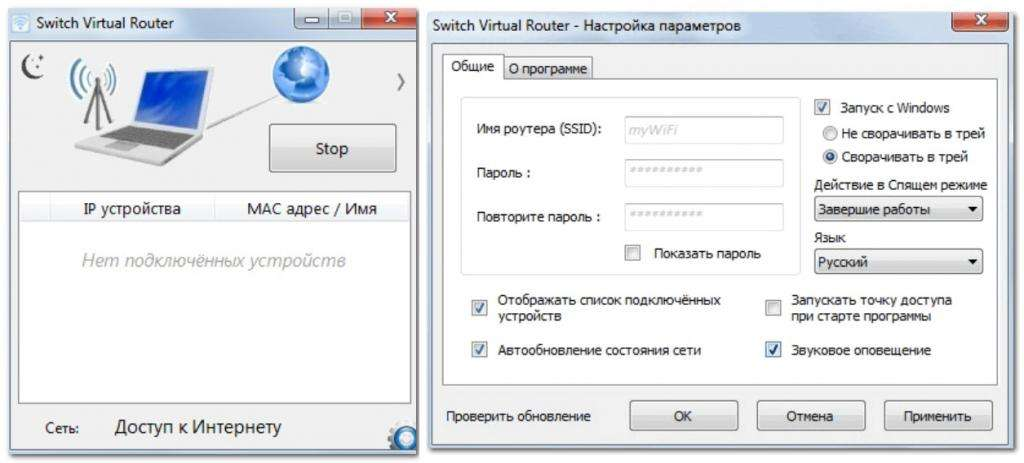 Программа Switch Virtual Router