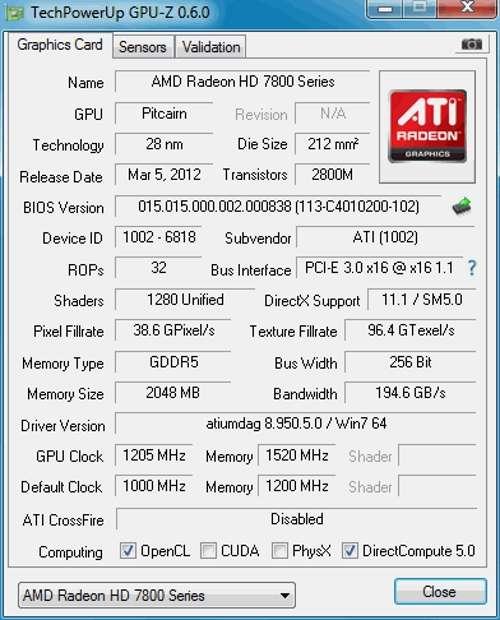 Мобильный графический акселератор начального уровня AMD Radeon HD 6320 Graphics. Характеристики и спецификации