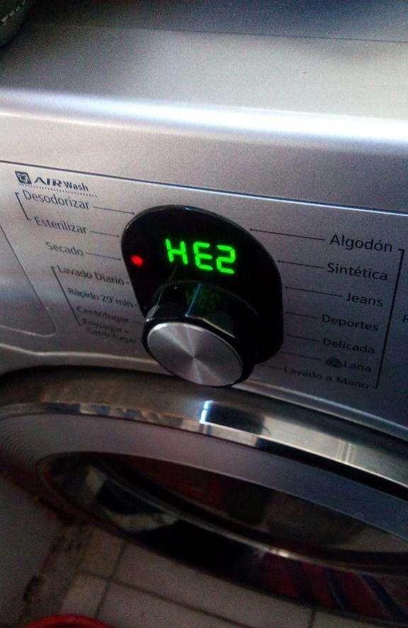 Стиральная машина Samsung, ошибка HE2: что это значит и как исправить