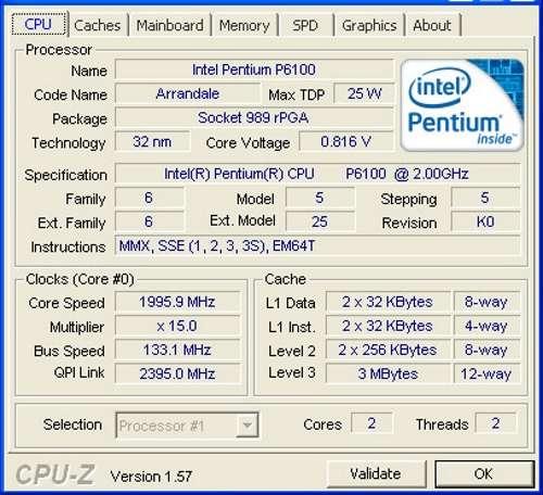 Процессор P6100. Характеристики и назначение